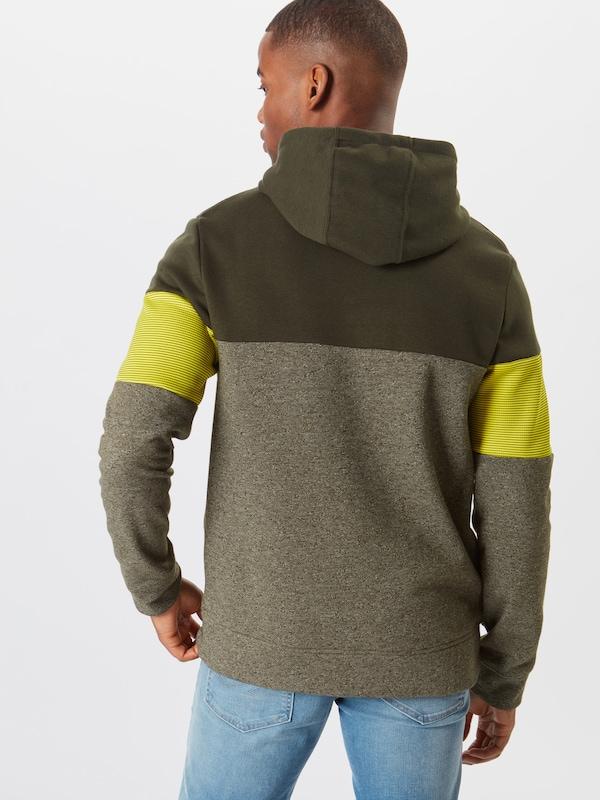 shirt JauneVert En Jackamp; Foncé Jones Sweat Hood' Sweat 'jcomart FKc3l1JT