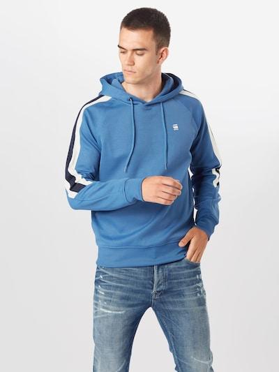 G-Star RAW Sweatshirt in rauchblau / nachtblau / offwhite: Frontalansicht