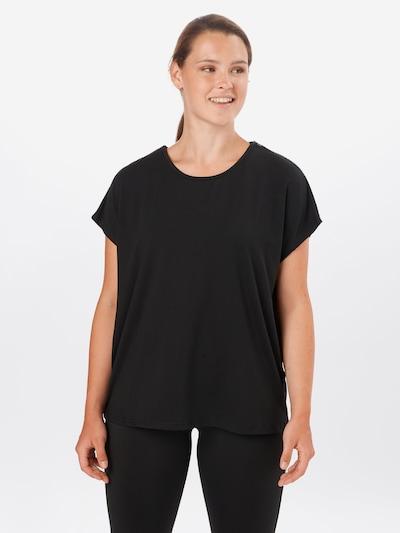 Only Play Curvy T-Shirt 'Drey' in schwarz, Modelansicht