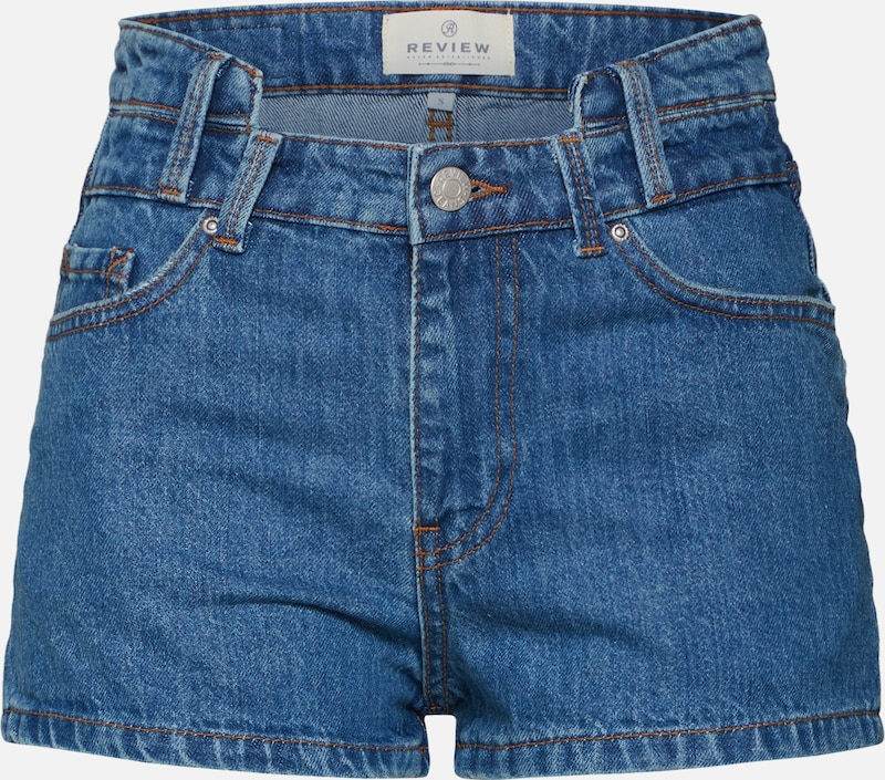 Review Shorts in blue denim, Produktansicht
