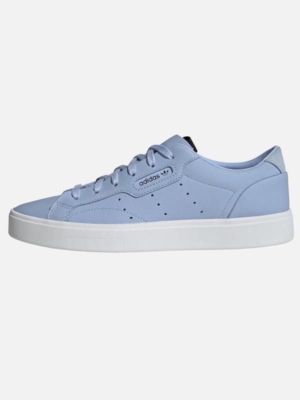 Bleu Baskets En 'sleek' Basses Originals Adidas Clair Blanc w7P4q87