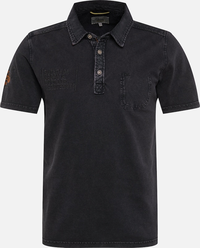 CAMEL ACTIVE Polo Shirt in dunkelrot schwarz | ABOUT YOU