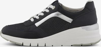 TOM TAILOR Shoes Sneaker mit erhöhtem Absatz in schwarz / silber / weiß, Produktansicht