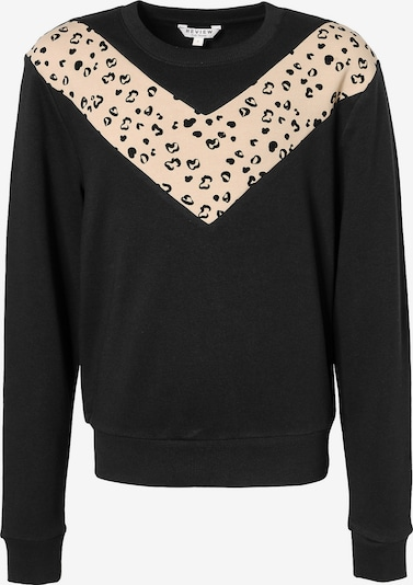 REVIEW FOR TEENS Sweatshirt in camel / schwarz, Produktansicht