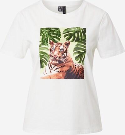 VERO MODA Shirt 'VMLEONA S/S SEQUEINS T-SHIRT VIP GA' in de kleur Wit, Productweergave