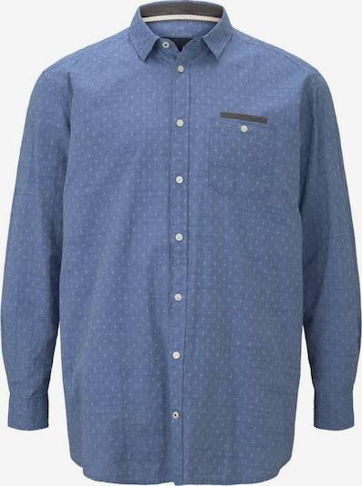TOM TAILOR Men Plus Hemd in hellblau / dunkelblau / weiß, Produktansicht