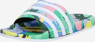 ADIDAS ORIGINALS Nizki natikači 'Adilette' | svetlo modra / zelena / roza barva, Prikaz izdelka