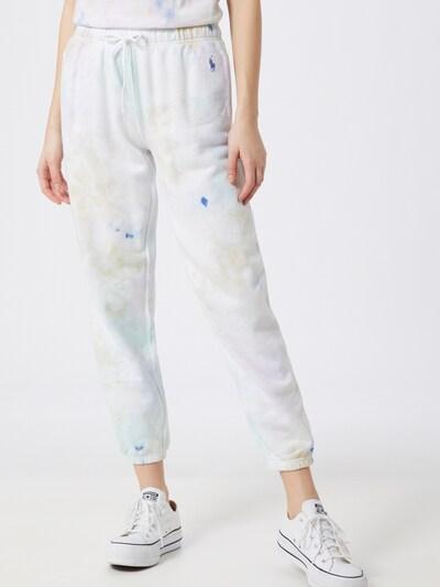 Pantaloni POLO RALPH LAUREN pe albastru deschis / alb, Vizualizare model