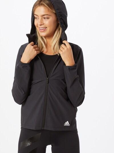 ADIDAS PERFORMANCE Športová bunda 'LW Woven' - čierna: Pohľad spredu