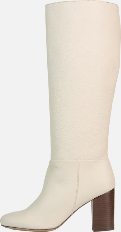 BULLBOXER Stiefel in creme / offwhite: Frontalansicht