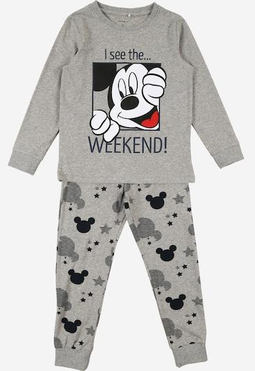 NAME IT Schlafanzug in grau / rot / schwarz / weiß, Produktansicht