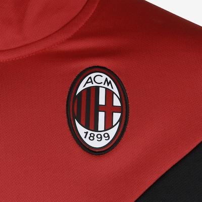 PUMA Jacke 'AC Mailand Iconic MCS' in rot / schwarz / weiß: Frontalansicht