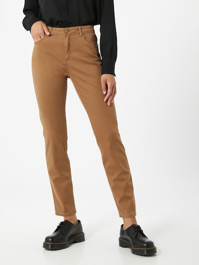 BRAX Jeans in de kleur Lichtbruin, Modelweergave