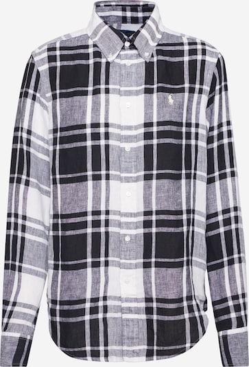 POLO RALPH LAUREN Bluse 'GEORGIA-CLASSICLONG SLEEVE-SHIRT' in schwarz / weiß, Produktansicht
