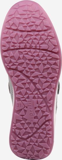 SUPERFIT Sneaker 'MERIDA HS' in grau / rosa: Ansicht von unten