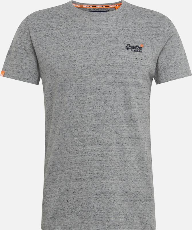 T Gris Label' Chiné Superdry shirt En 'orange zSMpVU