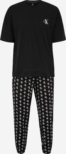 Calvin Klein Underwear Duga pidžama u crna / bijela, Pregled proizvoda