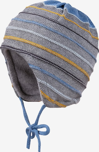 MAXIMO Mütze in nachtblau / royalblau / hellblau / goldgelb / grau, Produktansicht