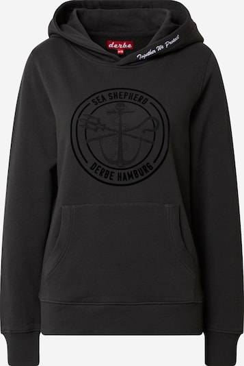 Derbe Sweatshirt 'JF_Zope' in schwarz / weiß, Produktansicht