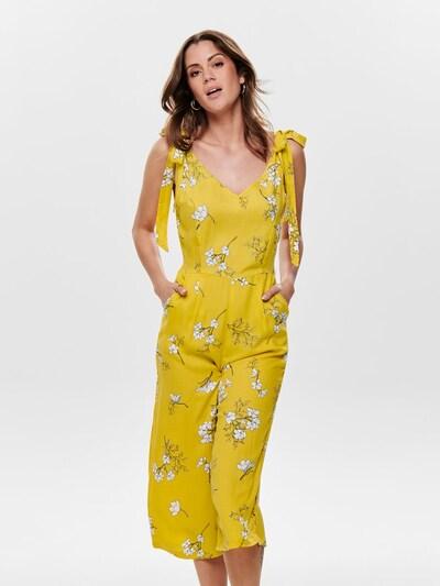 JACQUELINE de YONG Overall 'Kenya' in gelb / weiß, Modelansicht