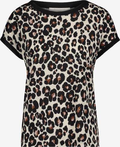 Betty & Co Halbarm-Shirt aus Seiden-Viskose-Chiffon in braun / schwarz, Produktansicht