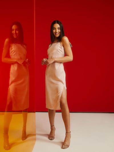 ABOUT YOU x Riccardo Simonetti Šaty 'Mirja' - ružová: Pohľad spredu