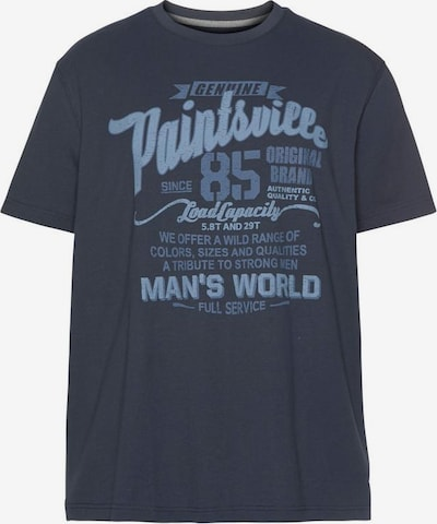 Man's World T-shirt in nachtblau / hellblau, Produktansicht
