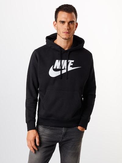 Nike Sportswear Sweatshirt in schwarz / weiß: Frontalansicht