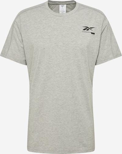 REEBOK Funktionsshirt in graumeliert / schwarz, Produktansicht