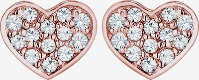 ELLI Oorbellen 'Herz' in de kleur Rose-goud / Transparant, Productweergave