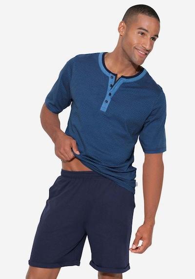 ARIZONA Lyhyt pyjama värissä laivastonsininen, Mallinäkymä