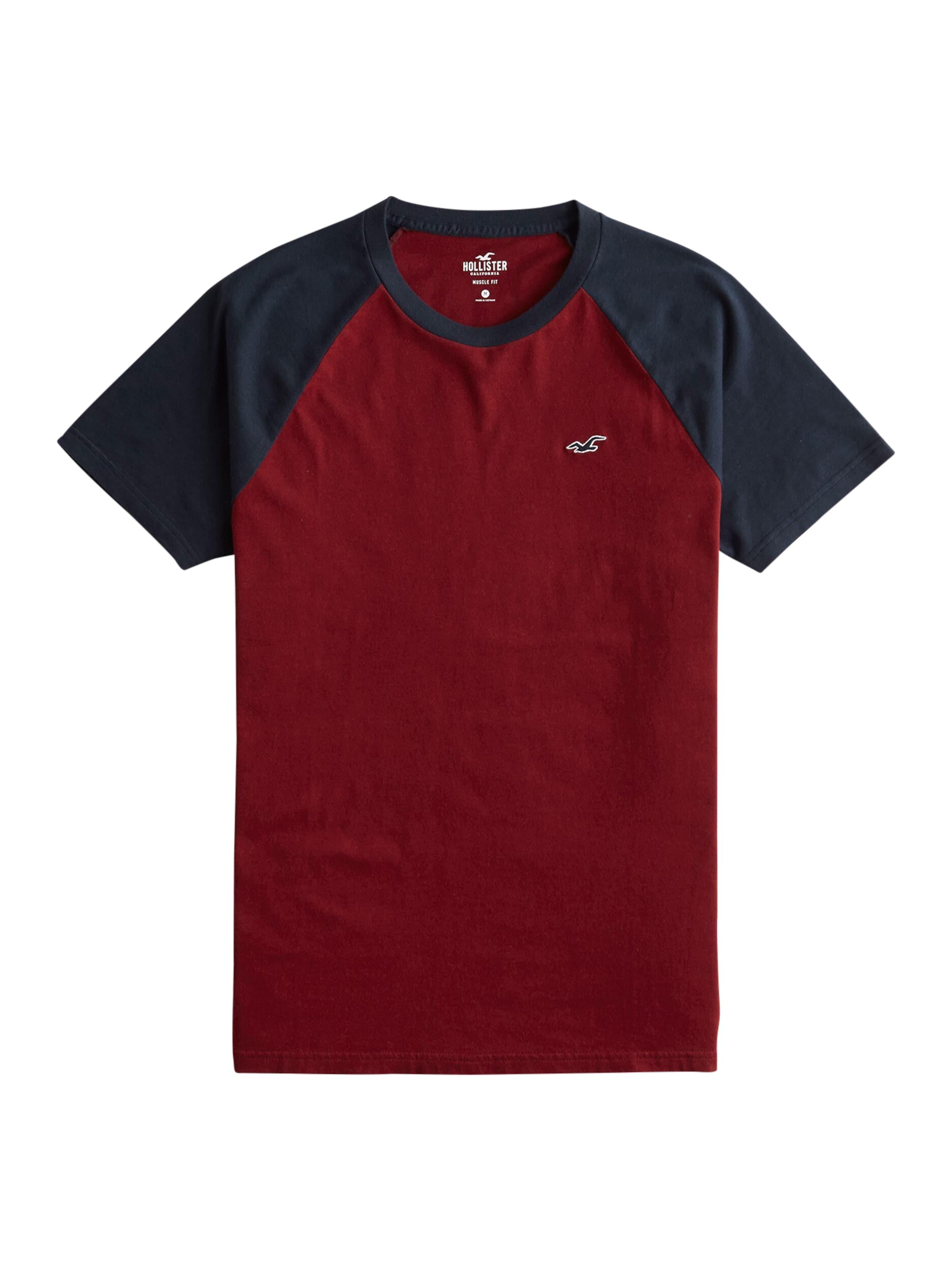 T Hollister En shirt Bleu FoncéBourgogne f6vb7ygY
