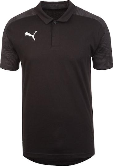 PUMA Poloshirt  'Cup Sideline' in basaltgrau / schwarz / weiß, Produktansicht