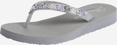 SKECHERS Zehentrenner 'Flower And Rhinestone Thong Yoga' in grau, Produktansicht
