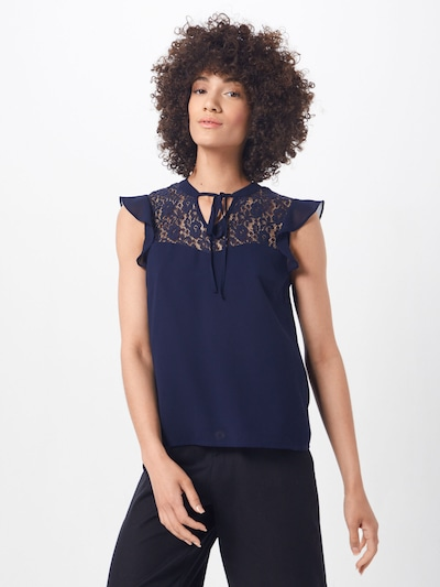 ABOUT YOU Blouse 'Antonie' in de kleur Navy, Modelweergave