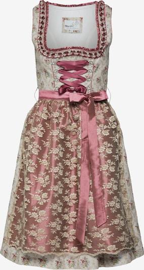 MARJO Dirndl 'Forenda' w kolorze beżowy / szary / różowy pudrowym, Podgląd produktu