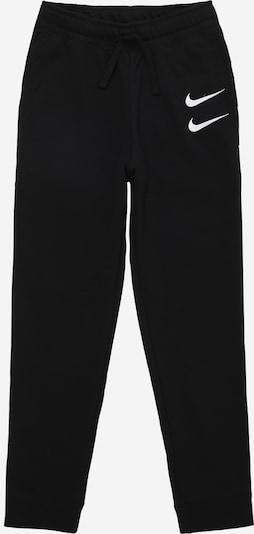 Nike Sportswear Kalhoty 'SWOOSH' - černá / bílá, Produkt