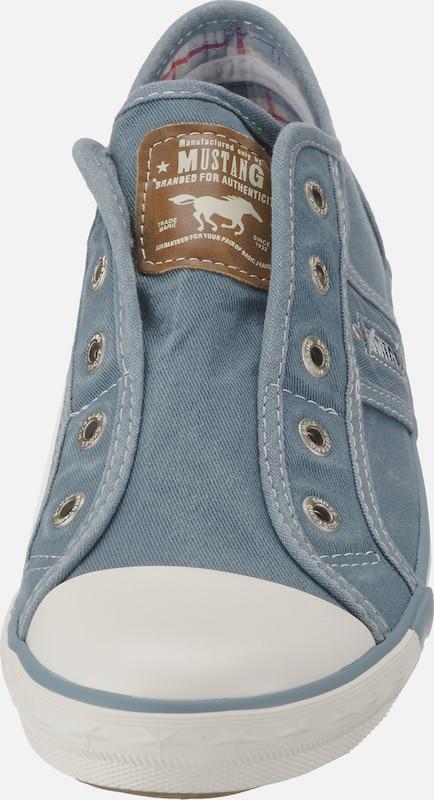 Slip En Bleu Blanc Mustang On grisMarron OkXPZiu