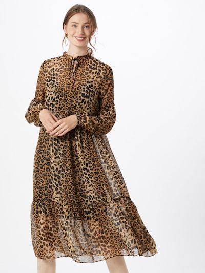 NA-KD Kleid in braun / hellbraun / schwarz, Modelansicht