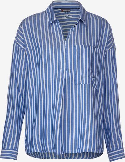STREET ONE Hemdbluse in blau / weiß, Produktansicht