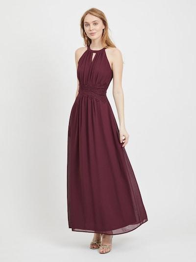 VILA Společenské šaty - vínově červená, Model/ka