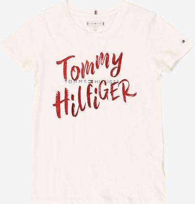 TOMMY HILFIGER T-Shirt in feuerrot / weiß, Produktansicht
