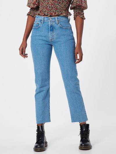 LEVI'S Jean '501® CROP' en bleu denim, Vue avec modèle