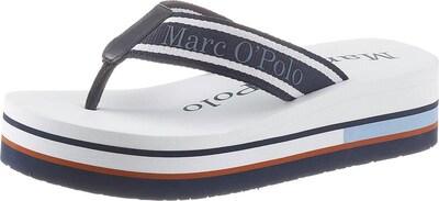 Marc O'Polo Zehentrenner in dunkelblau / weiß, Produktansicht