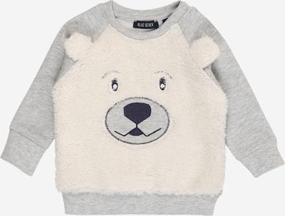 BLUE SEVEN Sweater majica u siva melange / crna / vuneno bijela, Pregled proizvoda