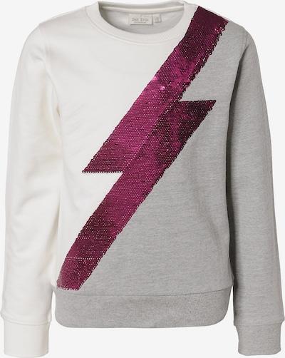 myToys-COLLECTION Sweatshirt in grau / beere / weiß, Produktansicht