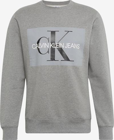 Calvin Klein Jeans Sweatshirt 'Core Monogram' in grau / schwarz / weiß, Produktansicht