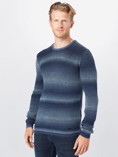 CINQUE Pullover 'JOHAN' in marine / grau: Frontalansicht