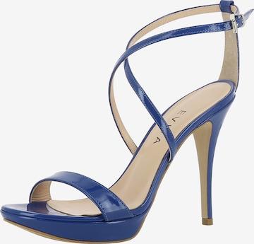 Sandales à lanières 'Valeria' EVITA en bleu