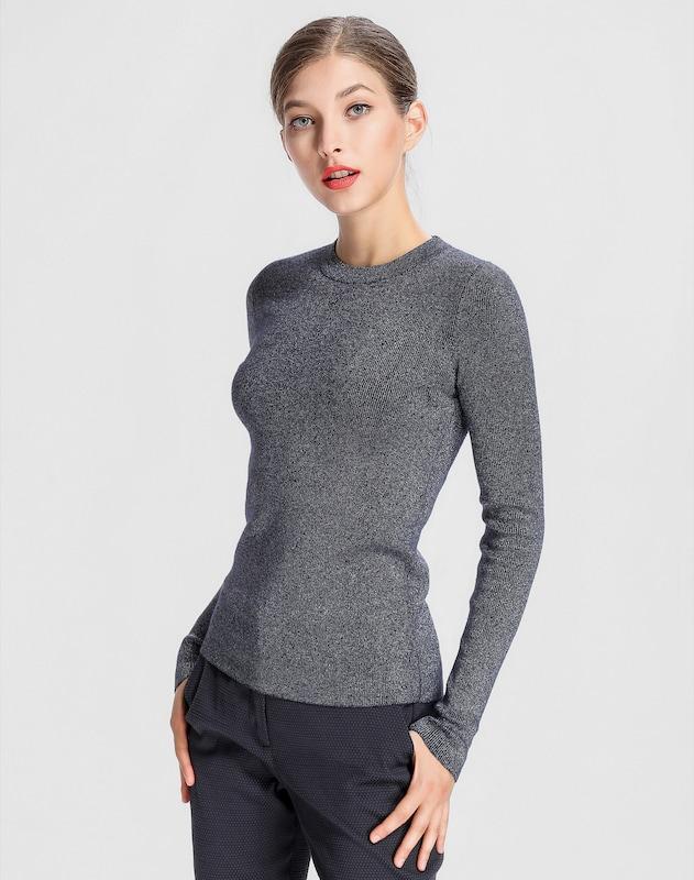 APART Pullover mit metallischen Fäden